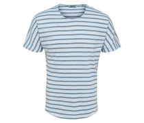 Gestreiftes T-Shirt blau / weiß