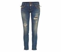 Destroyed-Jeans »Rosella« blau