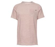 T-Shirt 'Pocket T-Shirt' offwhite / weinrot