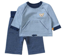 Set Baby Sweatshirt und Softbundhose für Jungen dunkelblau
