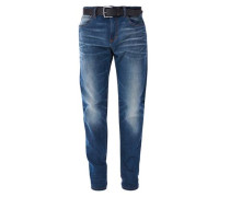 Curt Straight: Jeans mit Gürtel blue denim
