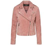 Wildleder-Jacke pink