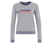 Sweatshirt mit Print grau