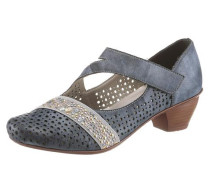 Spangenpumps blue denim