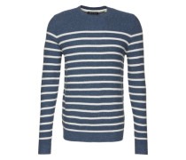 Pullover 'cneck stripe Sweaters long sleeve' blau