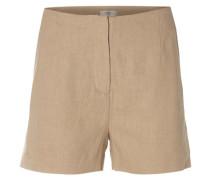 Leinen- und Viskose-Shorts camel