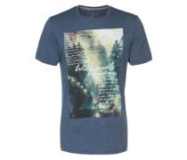 T-Shirt mit Fotoprint blau