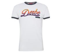 T-Shirt 'hh2001' mischfarben / weiß