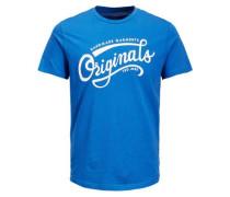 Print T-Shirt blau