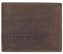 Amsterdam Herren Querformat Geldbörse Leder 12 cm mit Klappfach braun