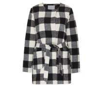 Mantel mit Karomuster 'Kimmi' schwarz / weiß