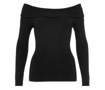 Off-Shoulder-Pullover schwarz