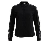 Hemd Spitzendetail schwarz