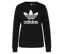 Sweatshirt 'trefoil Crew' schwarz / weiß