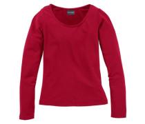 Langarmshirt eng anliegend für Mädchen rot