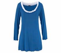 Hochwertiges Nachthemd im Layerdesign blau