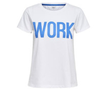 T-Shirt 'riva' royalblau / weiß