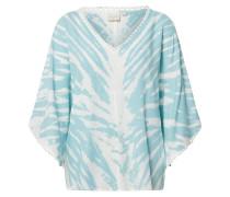Blusenshirt 'LisanaCR' weiß / aqua