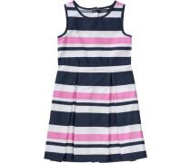 Kinder Kleid dunkelblau / pink / weiß