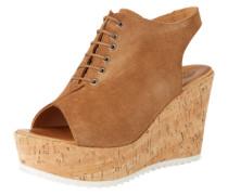 Keil-Sandaletten 'Lotti' braun