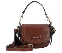 Pearldistrict Handtasche Leder 16 cm braun