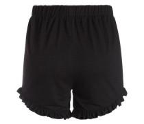 Rüschen-Shorts schwarz