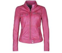 Lederjacke Pink pink
