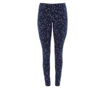 Leggings mit Sternen-Print blau