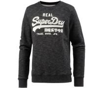Sweatshirt Herren dunkelgrau / graumeliert / weiß