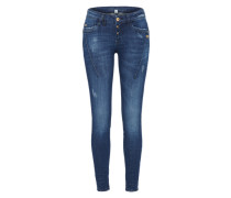 'new Georgia' Slimfit Jeans blue denim