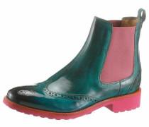 Chelseaboots jade / dunkelpink