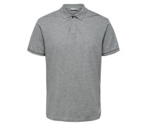 Klassisches Poloshirt grau