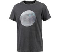 T-Shirt Herren schwarzmeliert