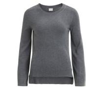 Gestrickter Woll Pullover dunkelgrau