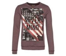 Sweatshirt 'never Mind Photo' rot