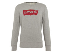 Sweatshirt 'graphic Crew B' grau / rot
