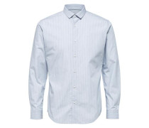 Langarmhemd hellblau / weiß