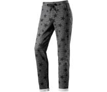 Sweathose mit Sternen-Print basaltgrau / dunkelgrau