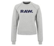 Sweater 'Xula Art Straight' graumeliert / schwarz
