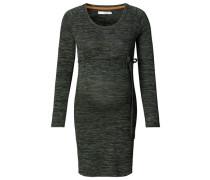 Kleid Melange Stripe grau