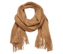 Flauschiger Strick-Schal beige