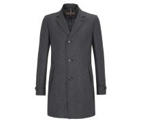 Modern Fit: Pepita-Mantel mit Wolle grau