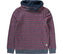 Sweatshirt mit Schalkragen taubenblau / blaumeliert / rot / rotmeliert