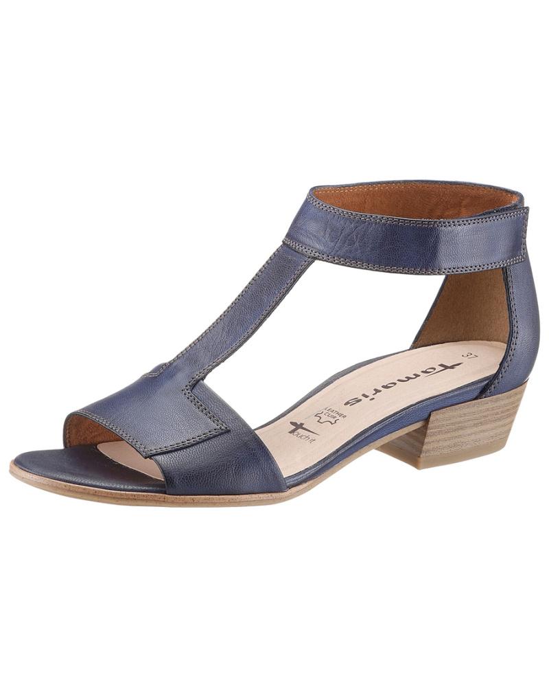 tamaris damen tamaris tamaris sandalette blau reduziert. Black Bedroom Furniture Sets. Home Design Ideas