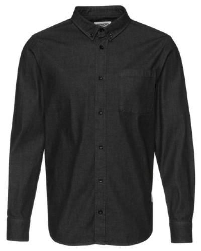 wemoto herren wemoto jeanshemd 39 raylon 39 schwarz 43 reduziert. Black Bedroom Furniture Sets. Home Design Ideas