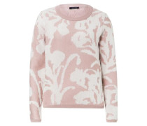 Pullover Jacquard rosa / naturweiß
