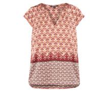 Bluse mit besonderer Musterung pfirsich / hellorange / dunkelrot