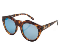 Sonnenbrille aus Kunststoff 'Neo Noir' schwarz / braun