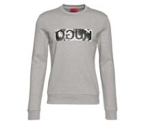 Sweatshirt mit Logo-Print 'Dicagos' graumeliert / schwarz