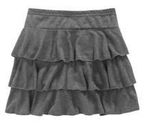 Rüschenrock für Mädchen graumeliert